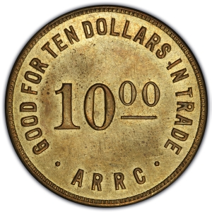 "Obverse of Alaska $10 ""Bingle"""