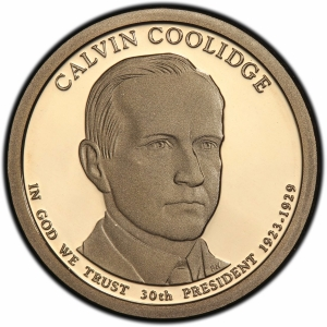 Obverse of 2014 Calvin Coolidge Presidential Dollar