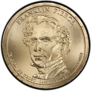 Obverse of Franklin Pierce Presidential Dollar