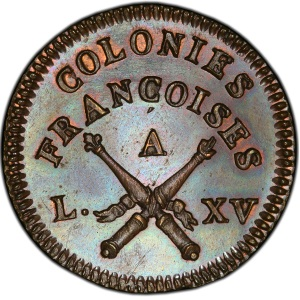 Obverse of French Colonies 1767-A Sou
