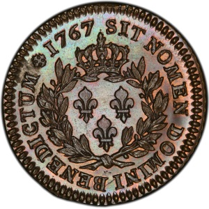 Reverse of French Colonies 1767-A Sou