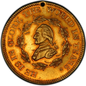 Obverse of Washington Funeral Medal in Gold