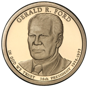 Obverse of Gerald Ford Presidential Dollar