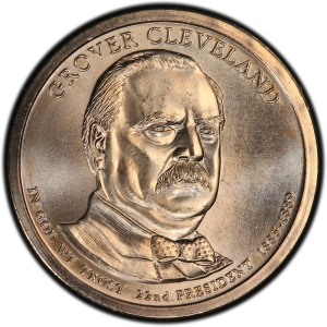 Obverse of Grover Cleveland Presidential Dollar