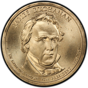 Obverse of James Buchanan Presidential Dollar