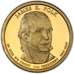 2009 P PRESIDENT JAMES K POLK UNCIRCULATED PRESIDENTIAL DOLLAR POS B