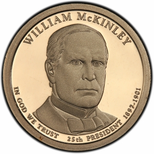 Obverse of 2013 William McKinley Presidential Dollar