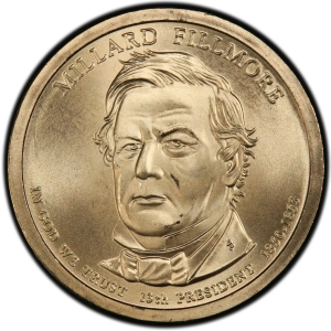 Obverse of Millard Fillmore Presidential Dollar