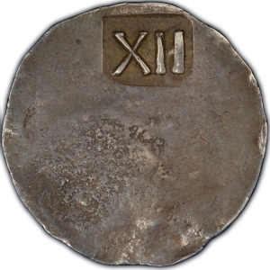 Reverse of New England Shilling