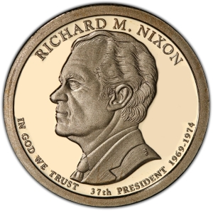 Obverse of Richard Nixon Presidential Dollar