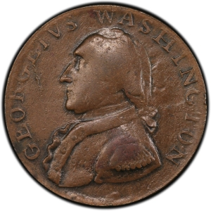 Obverse of North Wales Halfpenny