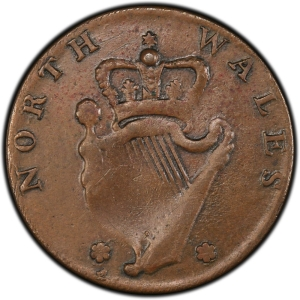 Reverse of North Wales Halfpenny