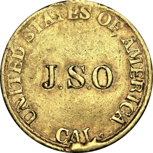 Obverse of J.S. Ormsby $5