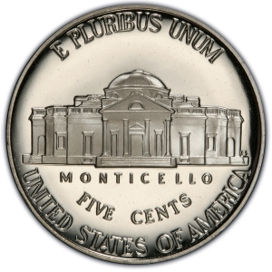 "Reverse of ""Return to Monticello"" Five Cents"