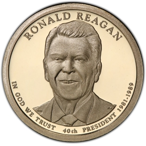 Obverse of Ronald Reagan Presidential Dollar