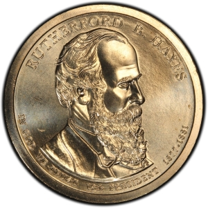 Obverse of Rutherford B. Hayes Presidential Dollar