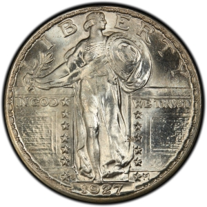 Obverse of 1925-1930 Standing Liberty Quarter Dollar