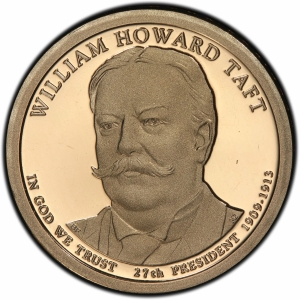 Obverse of 2013 William Taft Presidential Dollar