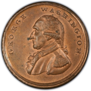 Obverse of (1795) Washington LIBERTY & SECURITY Penny