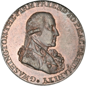 Obverse of 1795 Washington Grate Halfpenny