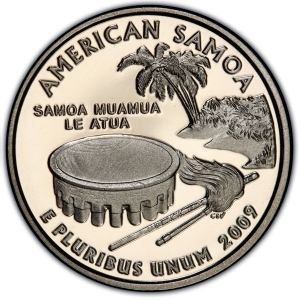 Reverse of American Samoa Quarter Dollar