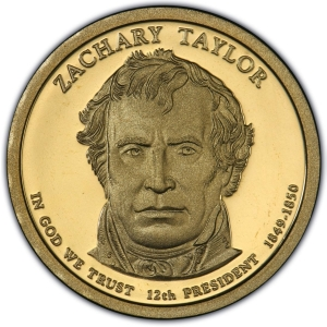 Obverse of Zachary Taylor Presidential Dollar