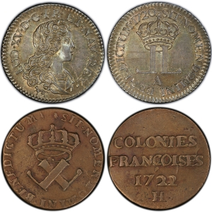 French Colonial coin types
