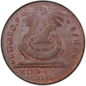 Obverse of 1787 Fugio Cent