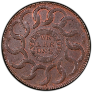 Reverse of 1787 Fugio Cent