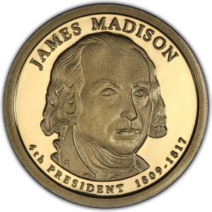 2007-S PRESIDENT JAMES MADISON $1 NGC PF70 ULTRA CAMEO