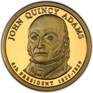 Obverse of 2008 John Quincy Adams Presidential Dollar