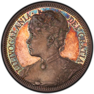 Obverse of Hawaii 1891 Huth Medal
