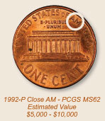 PCGS Grades '1992 Cent with Reverse of 1993'