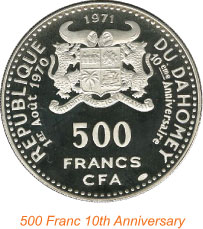 Republic of Dahomey 1971 Commemoration Coin: Political Change and