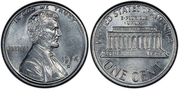 PCGS Certifies First Confirmed 1974-D Aluminum Lincoln Cent!