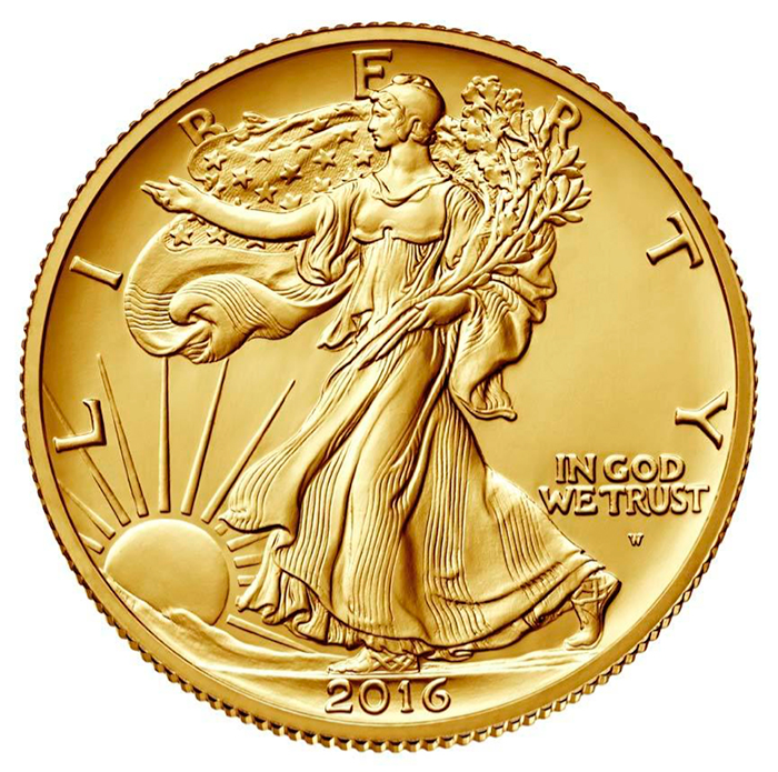 2016 W Gold Walking Liberty Half Dollars Released