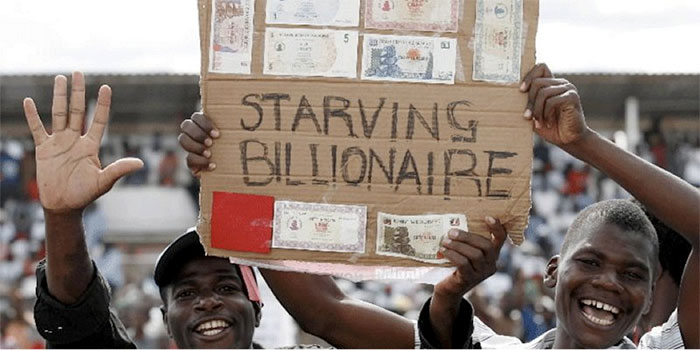 Zimbabwe Banks Trading 175 Quadrillion Dollars For 5 U S Dollar