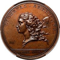 (1782) Libertas Americana Medal Bronze PCGS MS63BN