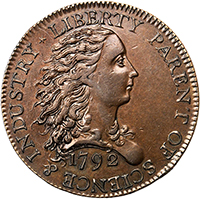 1792 Birch Cent. Lettered Edge. PCGS AU58 Secure