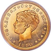 1880 $4 Coiled Hair PCGS PR65