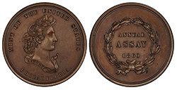 1860 Assay medal PCGS SP64BN