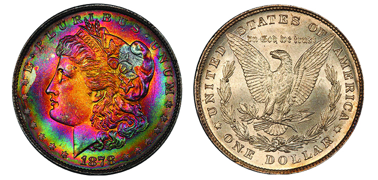 1878-8 Tail Feathers PCGS MS66+ CAC