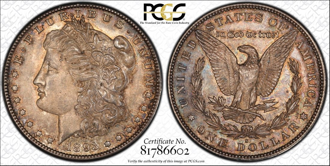 This 1893-S evaluated during PCGS' Meet the Expert sessions is now valued at $53,000, according to the PCGS Price Guide.