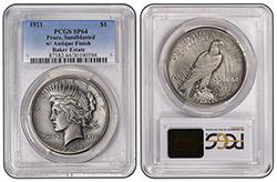 1921 $1 PCGS SP64