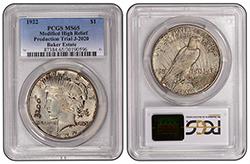 1922 $1 3200 J-2020 PCGS MS65