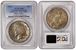 1922 $1 J-2020 PCGS PR67