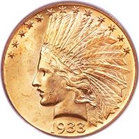 1933 $10 PCGS MS65