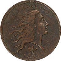 Legend Morphy 1C 1793 WREATH VINE. BARS PCGS XF40