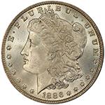 One Dollar $1 1886-O Eliasberg