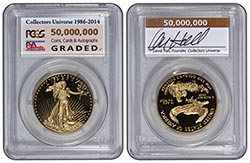 CU 50 Million Gold Eagle: